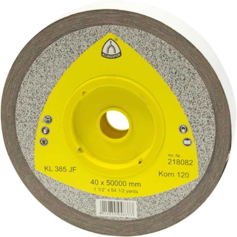Schleifgewebe-Rollen, braun, KL 385 JF , Abm.: 40x50000 mm, Korn: 320