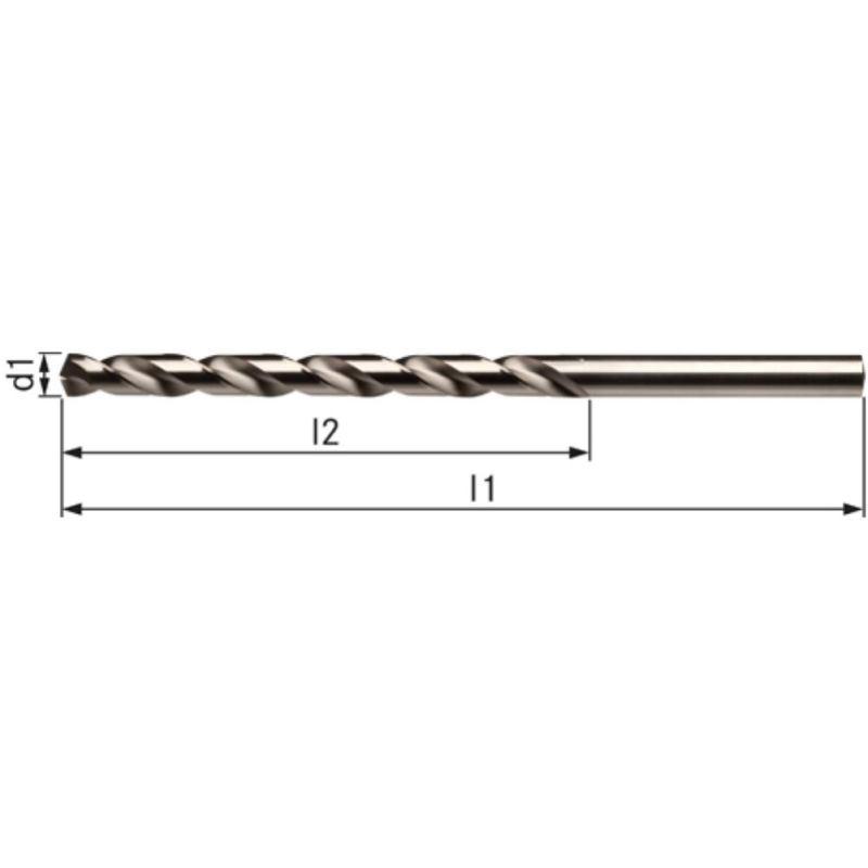 Spiralbohrer DIN 340 3,3 mm Typ VA HSSE