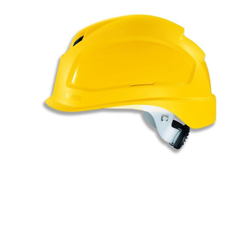 Schutzhelm pheos BSWR Farbe gelb mit Belüftung