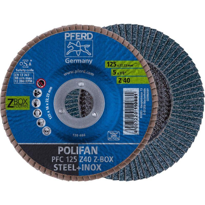 Ø 125mm POLIFAN-Fächerscheibe 10er Pack Korn 40