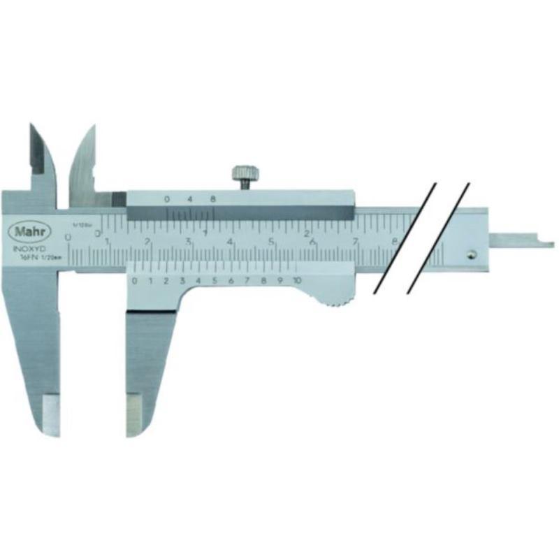 16 FN Messschieber 150 mm Nonius 1/128 inch/0.05 mm 31008015