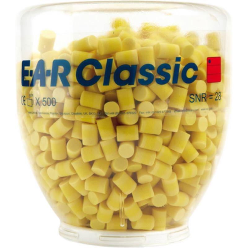 Gehörschutzstöpsel EAR Classic II. im Refill-Aufsatz für Spender. 500 Paar