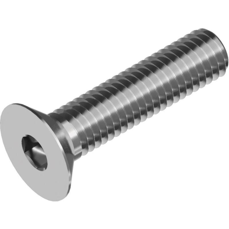 Senkkopfschrauben m. Innensechskant DIN 7991- A2 M 4x 45 Vollgewinde