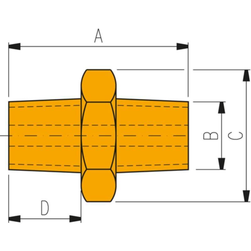 Hochdruckverschraubung FZ 1617 Sechskant-Gewindeh
