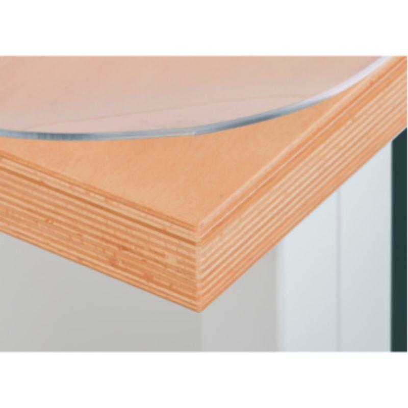 Weich-PVC-Auflage LxTxH 2000x800 mmx3 mm transparent
