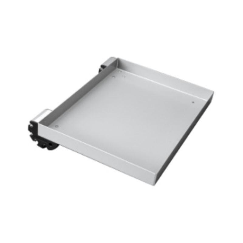 Tablar Stahlblech, 520x345x30mm, inkl. 2 Einhängeprofilen 0/40/80°