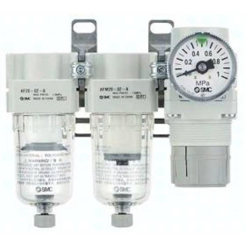 AC20C-F02-SV-A SMC Modulare Wartungseinheit