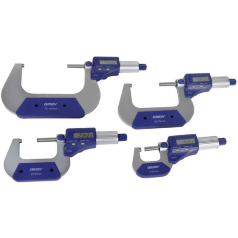 Bügelmessschrauben 0 - 100 mm im Etui elektronisc