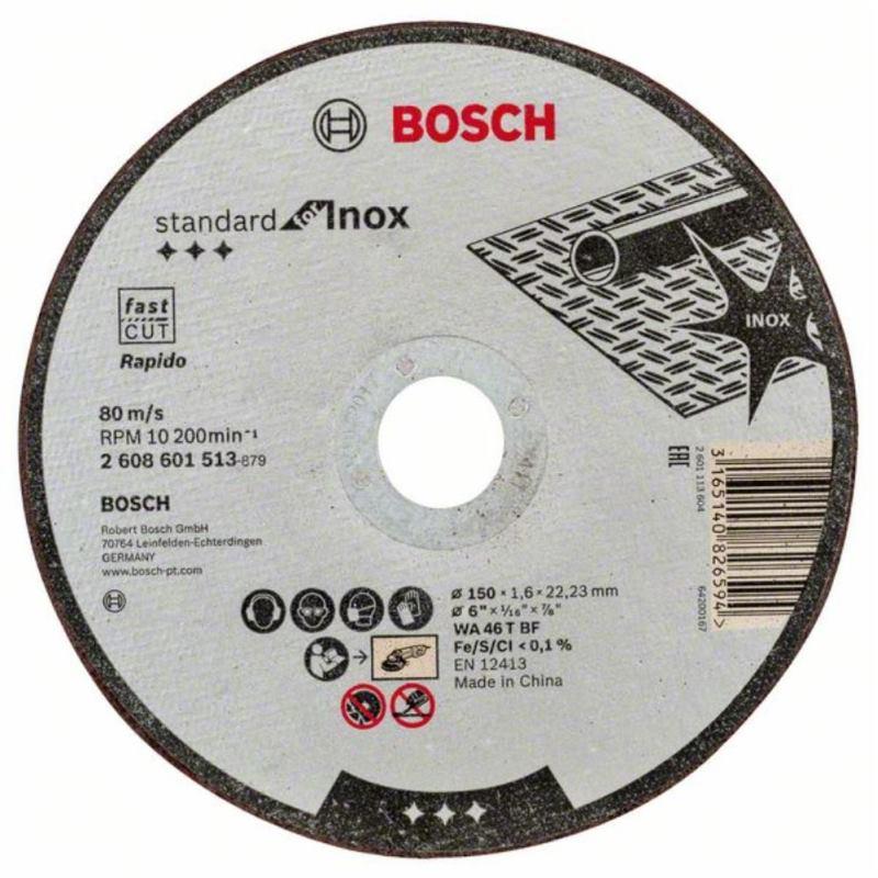 Bosch Trennscheibe Gerade Fur Edelstahl Wa 46 T Bf 150 Mm 22 23 Mm