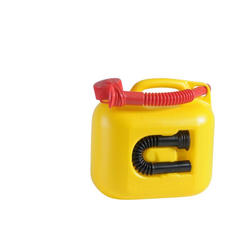 Kraftstoff-Kanister PREMIUM (UN) 5 L gelb UN-Zulassung HDPE rotes Zubehör