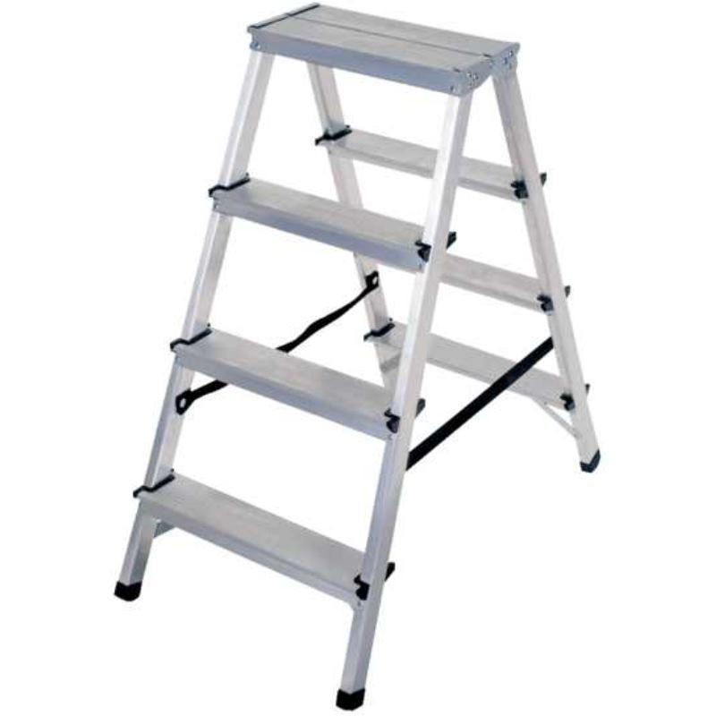 Doppelstufenleiter Aluminium 2x4 Stufen