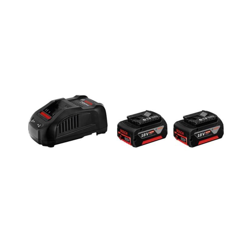 Akkus Ladegerät Starter-Set GAL 1880 CV und 2 x GBA 18 V 5.0 Ah M-C