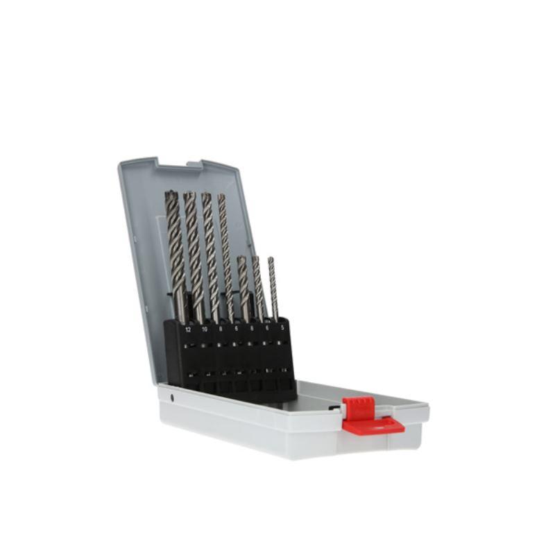SDS-Plus Bohrer Satz 7tlg Pro Box plus-7X. 5/6/6/8/8/10/12mm