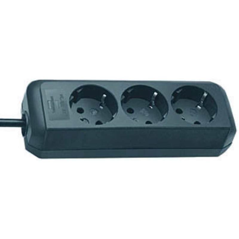 Eco-Line Steckdosenleiste 3-fach schwarz 1.5m H05V