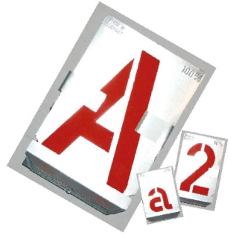 Signierschablonen Buchstaben von A-Z. SH 80 mm