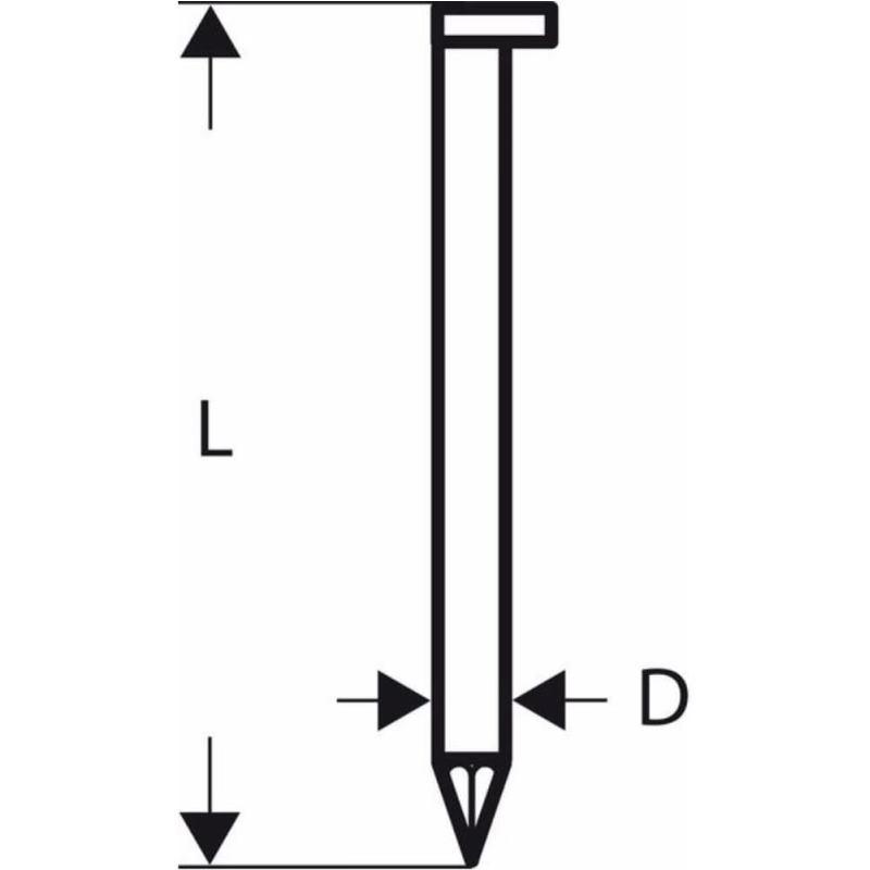 D-Kopf Streifennagel SN34DK 90G, 3,1 mm, 90 mm, ve