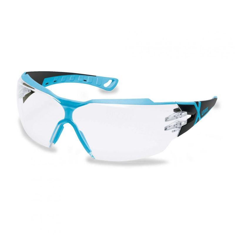 Schutzbrille pheos cx2 fbl. sv excell sw/hellblau