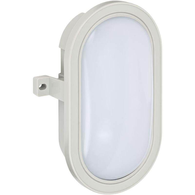 LED-Ovalleuchte L DN 3002 IP44 grau 5.5W 460lm Energieeffizienzklasse A+