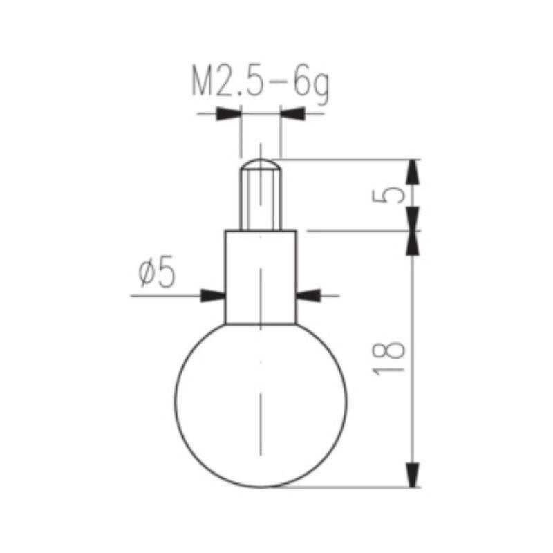 Messeinsatz Typ 19 Kugelmesseinsatz Durchmesser 11,0 mm