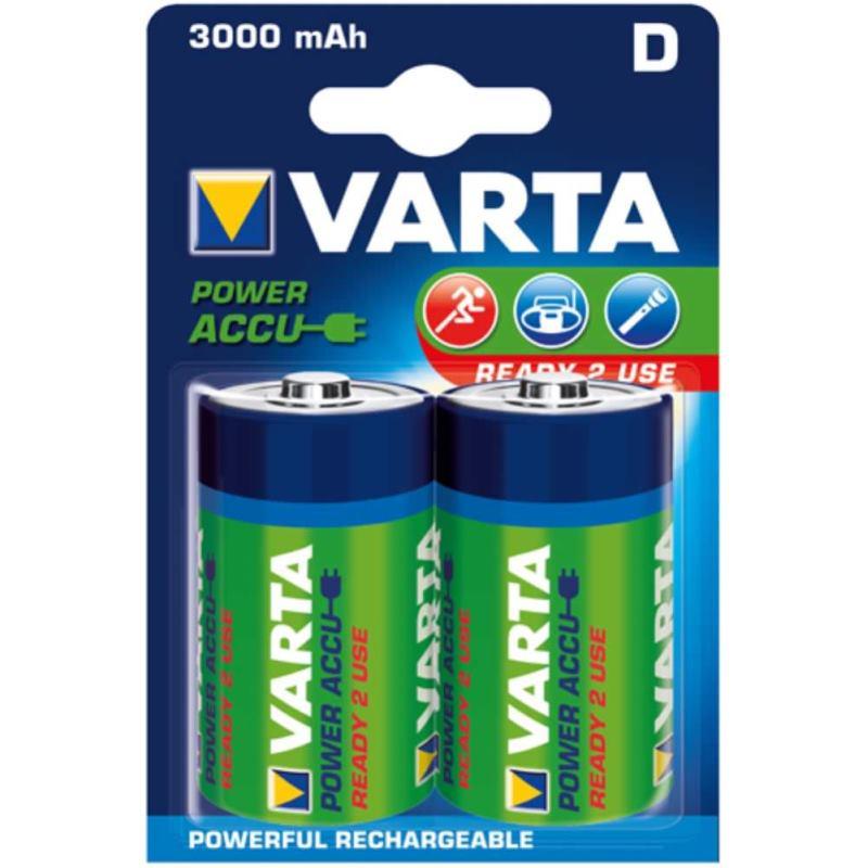 Akku RECHARGEABLE Wiederaufladbar Batterie POWERMono Blister 2 Stück 1.2