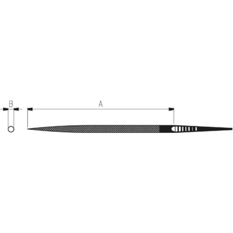 Präzisionsrundfeilen 100 mm Hieb 2