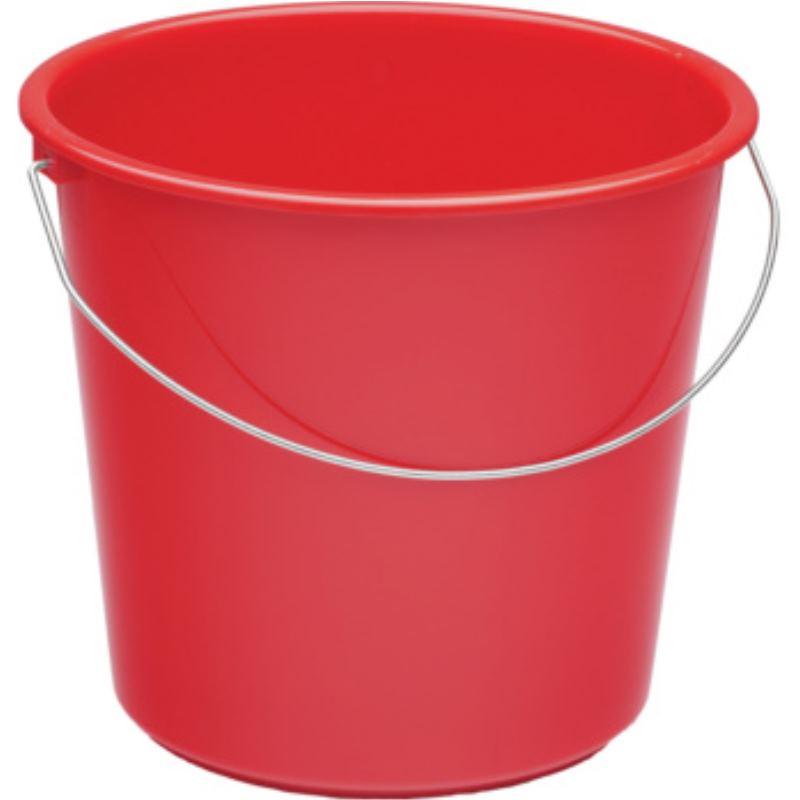 Haushaltseimer Kunststoff rot 10 l