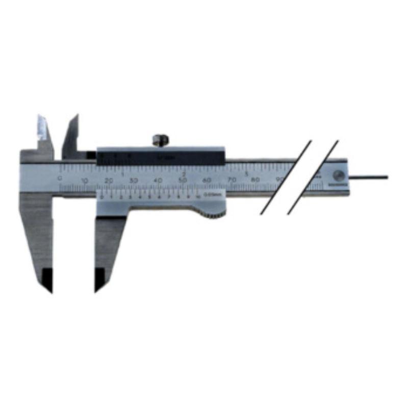 Messschieber INOX 100 mm mit Feststellschraube Nonius 0,05 mm