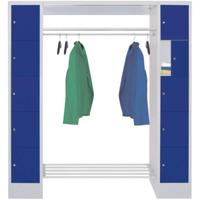 Schließfach-Garderoben, H x B x T 1850x2000x500 mm