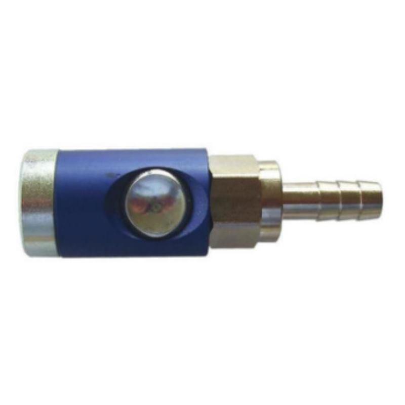 Sicherheitskupplung mit Knopf. Schlauchanschluss LW6 drehbar