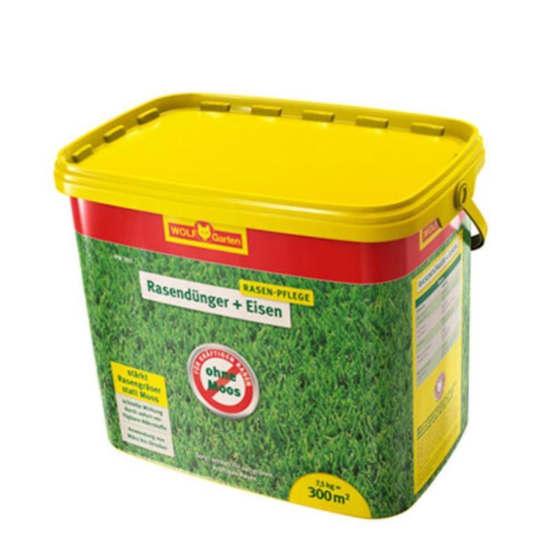 Rasendünger Plus Eisen L-PM 300 | 7.5 kg | 300 m²