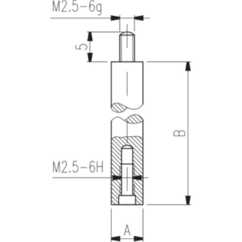 Verlängerungsstück 4 mm Durchmesser Länge 60 mm