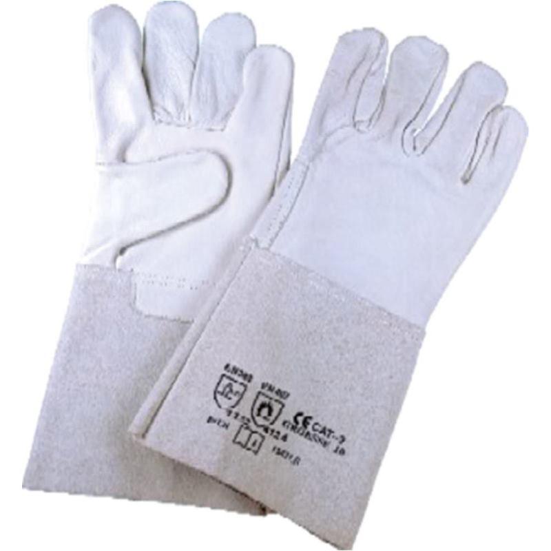 Schweißer-Schutzhandschuhe Spaltleder. Größe 10