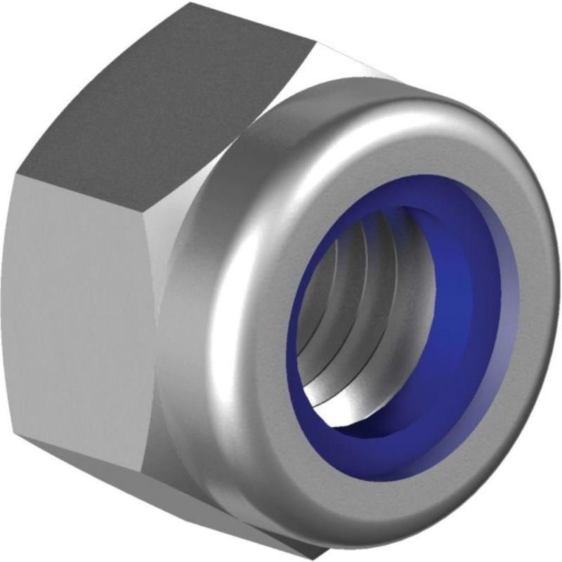 Sicherungsmuttern niedr. Form DIN 985-A4 M10x1 m. Klemmteil -Feingewinde