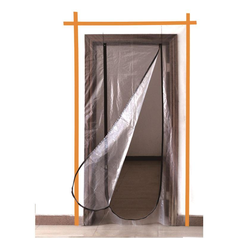 Staubschutztür 220 x 120 cm, mit Reißverschluss
