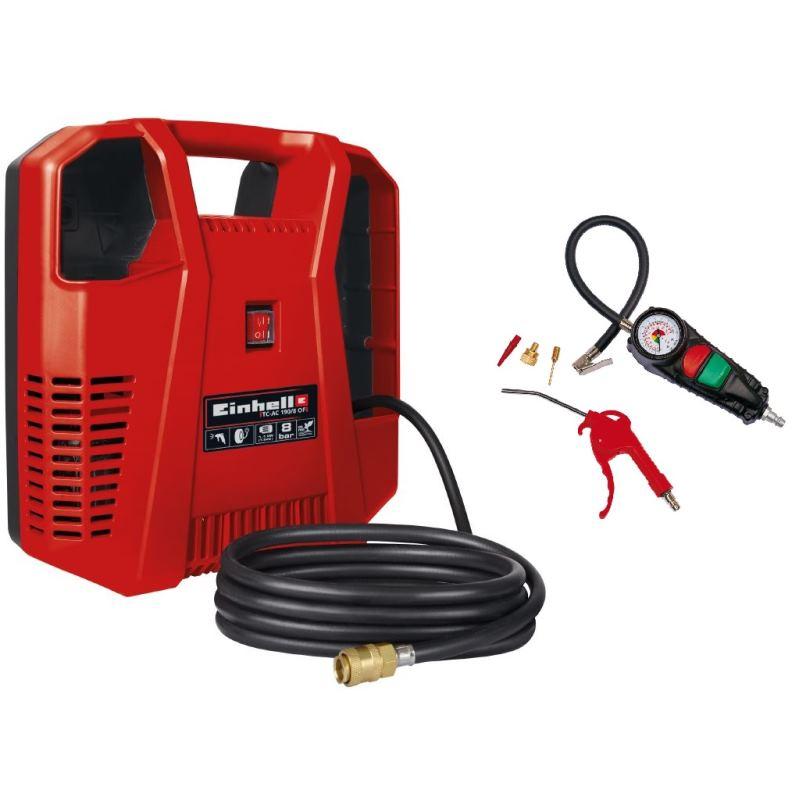Mobil Druckluft Kompressor TC-AC 190/8 Kit inkl. Zubehör