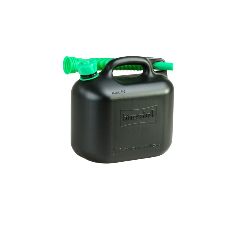 Kraftstoff-Kanister CLASSIC 5 L HDPE schwarz besonders schwere Qualität