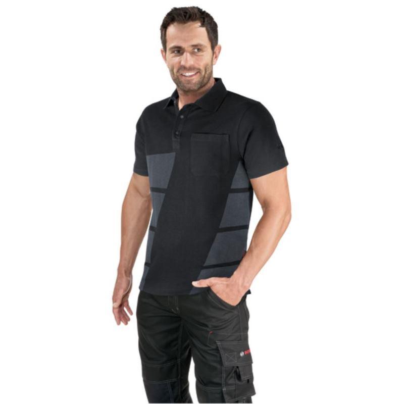 Poloshirt - Schwarz WPSI 09. Größe XL