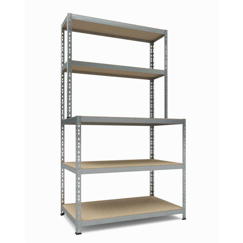 Steckregal Work System 180x100x60/30 3+2