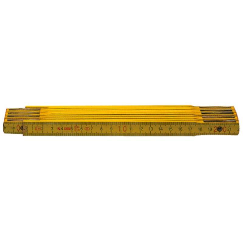Holz-Gliedermaßstab hellgelb 2 m EG-Klasse III