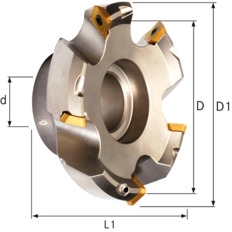 Planmesserkopf 45 Grad 100 mm für Wendeschneidpla