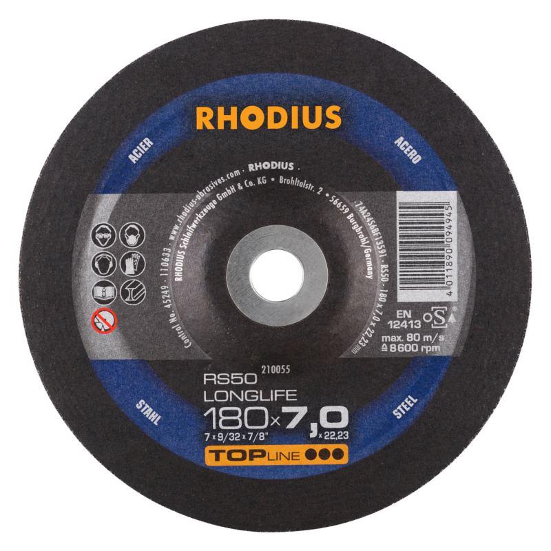 Schruppscheibe RS50 LONGLIFE | Ø 180 x 7,0 x 22,23mm Form 27