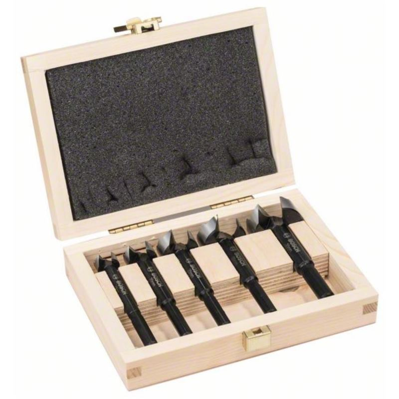 Forstnerbohrer-Set. 5-teilig. 15 - 35 mm. toothed-edge