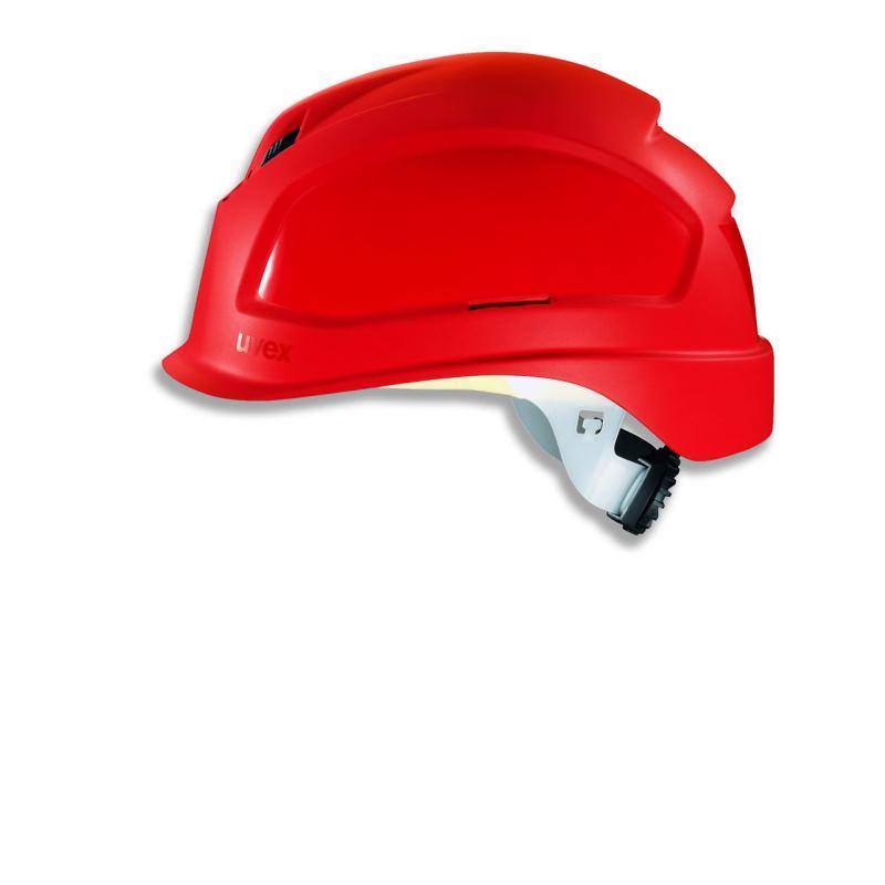 Schutzhelm pheos BSWR Farbe rot mit Belüftung