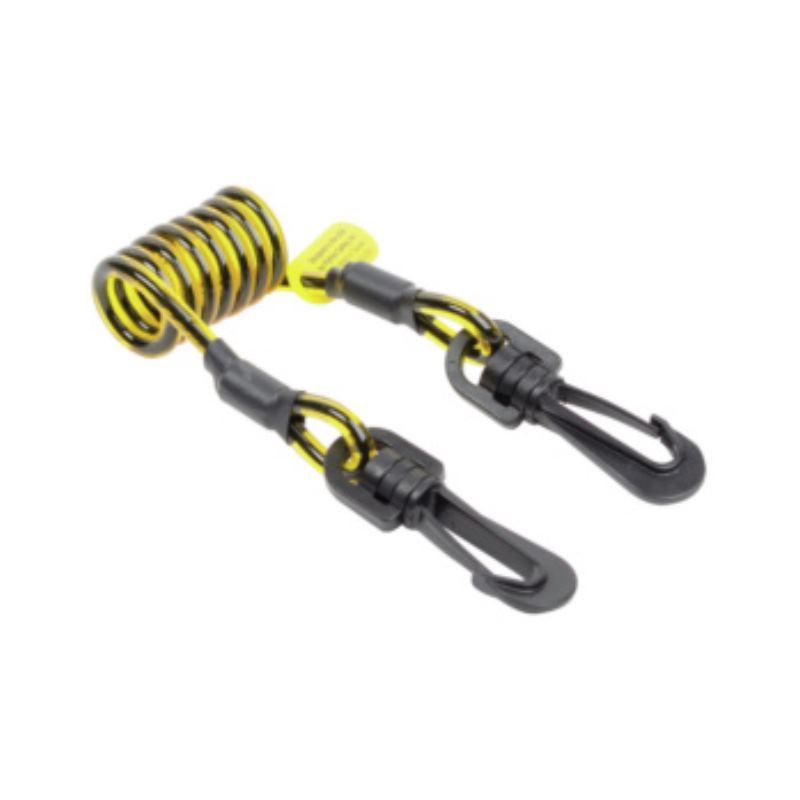 Spiralhalteband 44-700 mm, Kunststoffkarabiner