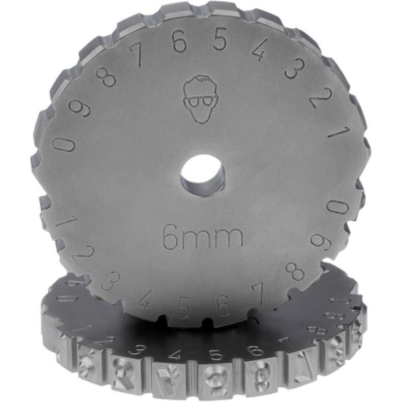 Schlagzahlen-Rad 4 mm Schrifthöhe