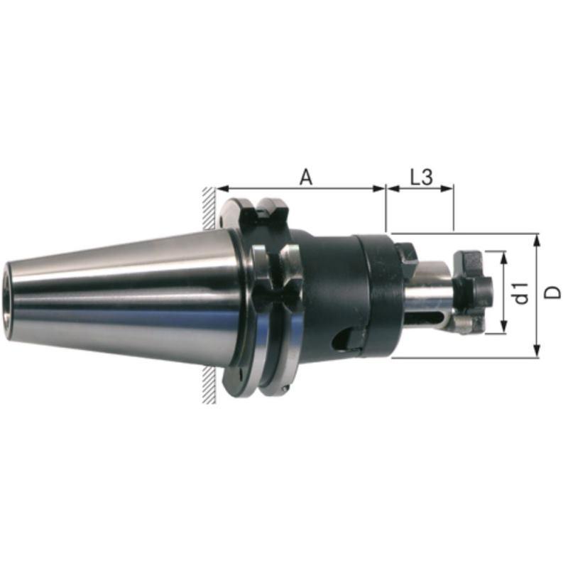Kombi-Aufsteckfräserdorn SK 50 27 mm DIN 69871A
