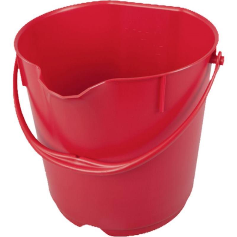 Eimer aus PP. 15 Liter. Farbe rot