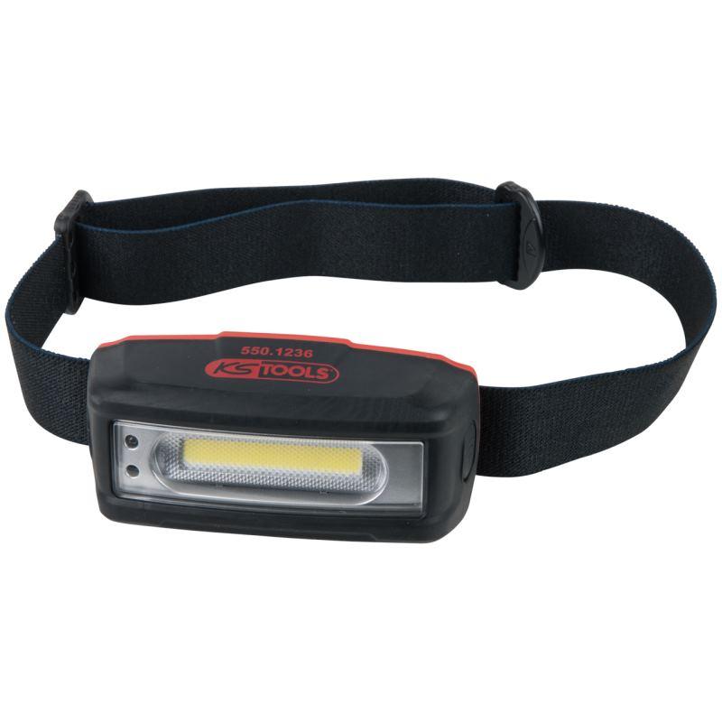 STRIPE LED-Akku-Kopflampe mit Bewegungssensor
