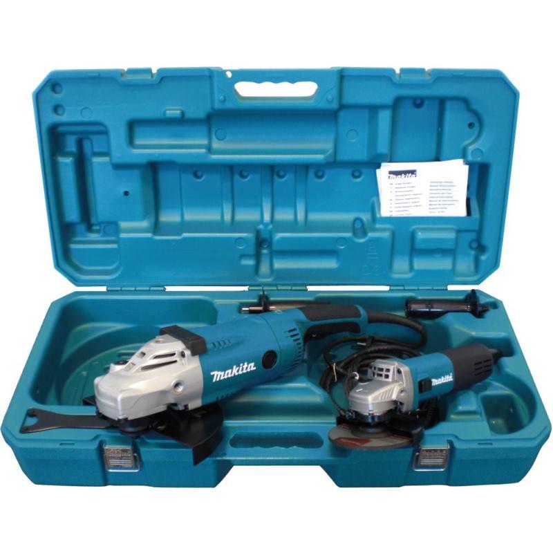Winkelschleifer-Set DK0052G. 125 + 230 mmGA9020R + 9558NBR im Koffer