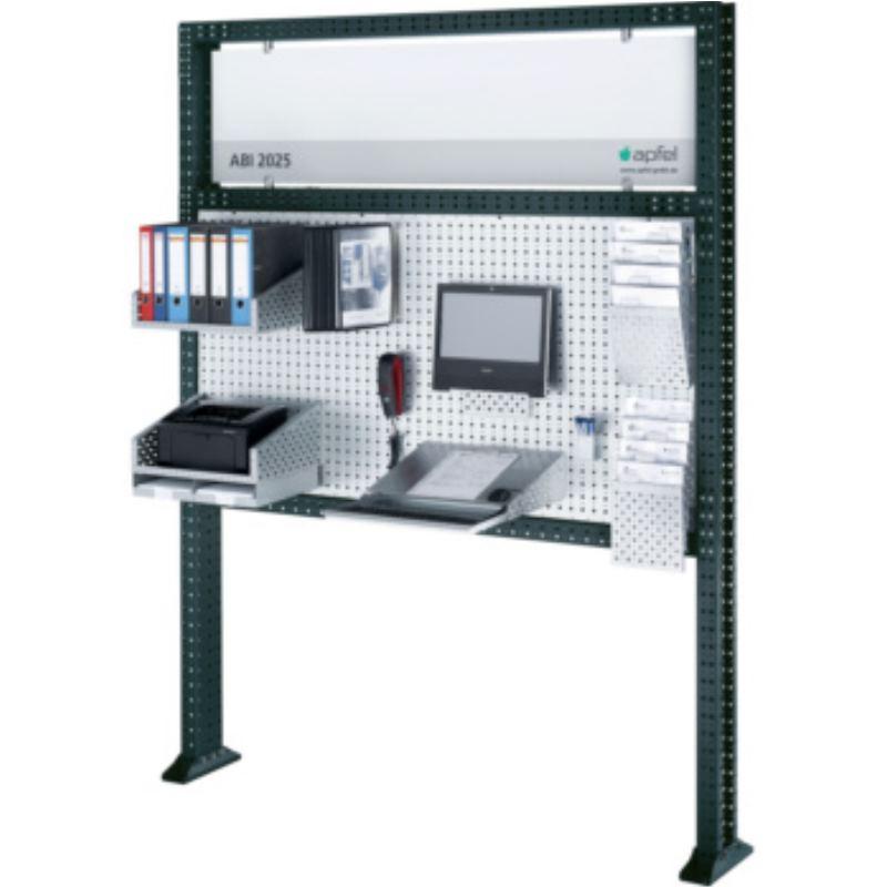 Arbeitsinsel 2025 Set PC BxHxT 1940x2500x140 mm Rahmen RAL 7016